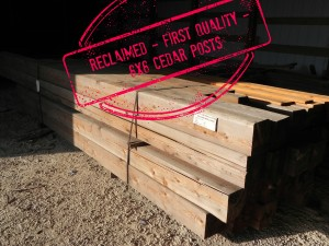 Reclaimed Cedar Posts